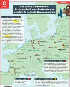 Les camps d'internement, de concentration et d'extermination pendant la Seconde Guerre mondiale