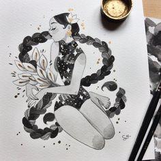 Sibylline M ✨ Es una ilustradora de París, Francia. Sibylline • Illustration & comics ✨profile picture by @m_atelier @Sibylline_M patreon.com/jellyfishcomics