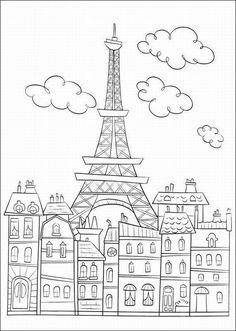 Ausmalbilder Paris