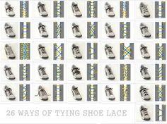 tie shoe lace
