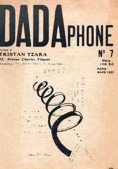 Tristan Tzara, Dadaphone, revue Dada, mars 1920.