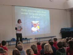 Miriam Frier got her local primary school involved. Stromness Primary ran a Just a Drop week, with a talk on the charity, blue face painting and a collection of pennies in water bottles!
