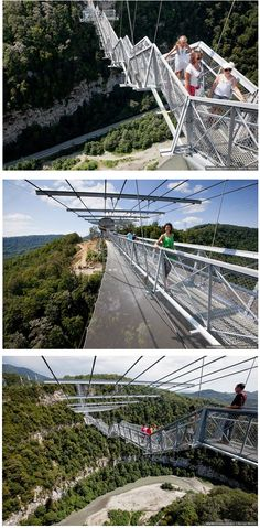 The world's largest pedestrian suspension bridge is just slightly terrifying.