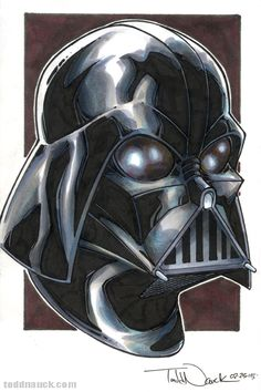 Star Wars - Darth Vader by Todd Nauck Copic Art, Copic Sketch, Amidala Star Wars, Spider Gwen, Batman Vs Superman, Dark Lord, Star Wars Art, Comic Books Art, Drawing Sketches