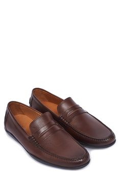 ab30c05bd585d HARRYS OF LONDON Downing 2 Polished-Leather Penny Loafers. #harrysoflondon  #shoes #loafers   Harrys Of London Men   Loafers, Penny loafers, Leather