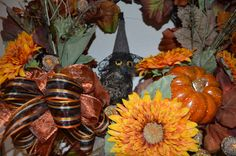 Your place to buy and sell all things handmade Owl Wreaths, Sunflower Wreaths, Autumn Wreaths, Door Wreath, Wreaths For Front Door, Pumpkin Wreath, Welcome Wreath, Harvest, Fall