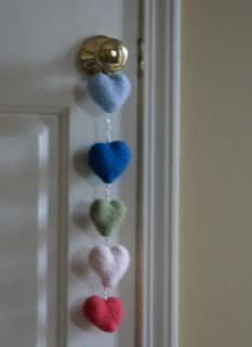 Knitted Hearts Door Knob Hanger — Saved By Love Creations
