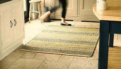 Natural Flooring Seagrass Blue Large Rug 160X230 cms