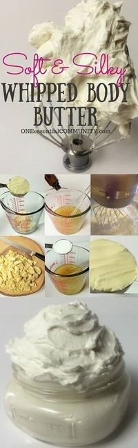 This is THE BEST whipped body butter recipe I've ever used! It's soft, silky…