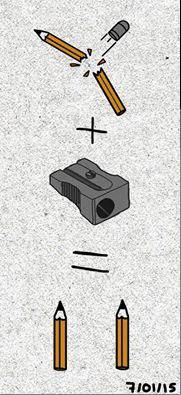 Attentat contre Charlie Hebdo. Un dessin de Philippe Costanza https://twitter.com/philcost