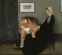 Svetlana Petrova Cat Art - Whistler's mother