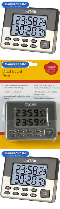 Timers 98852: Taylor Dual-Time Cooking Or Event Digital Up Or Down Timer With Clock And Alarm -> BUY IT NOW ONLY: $33.28 on eBay!