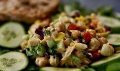 Whole Food Recipes, Vegan Recipes, Almond Milk Yogurt, Vegan Kitchen, Canned Chickpeas, Chickpea Salad, Toasted Almonds, Ann Arbor, Plant Based Diet