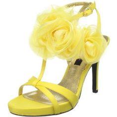 Nina Women's Galiza Platform Sandal,Canary,9.5 M US (Apparel) #sandals