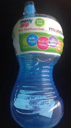 Munchkin 10 oz Mighty Grip Spill Proof Sippy Cups Blue Green for Food Drink | eBay