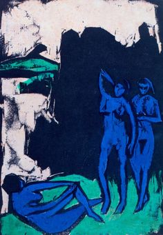 Ernst Ludwig Kirchner - Three Bathers. 1910.