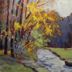 Autumn Impressionism Landscape Spring Mill Oil Painting, painting by artist Heidi Malott