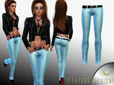 Jamie Ann Pants by ZitaRossouw at TSR • Sims 4 Updates