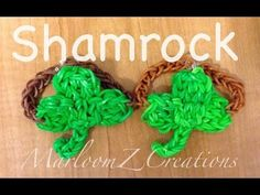 Rainbow Loom SHAMROCK (3 Leaf Clover). Designed and loomed by MarloomZ Creations. Click on photo for YouTube tutorial.