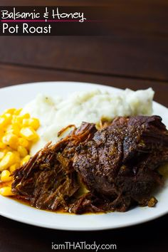 The PERFECT blend of sweetness and comfort, you will love the complex flavors of this Balsamic and Honey Pot Roast!