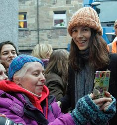 Fans lined the street to catch a glimpse of telly star Caitriona