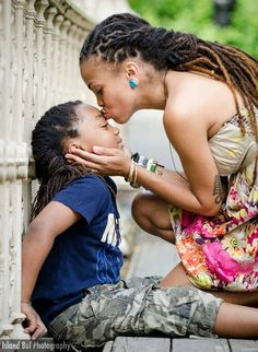 Mother-son locs! Beautiful!! Nothing 'dread'-ful about this pic ❤❤❤