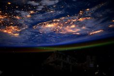 The Earth at night The Earth, photographed at night from the International Space Station.