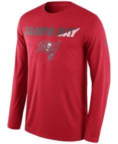 Nike Men's Long-Sleeve Tampa Bay Buccaneers Legend Staff Practice T-Shirt