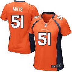 Women's Nike Denver Broncos #51 Joe Mays Limited Orange Team Color NFL Jersey Sale