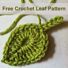 Free Crochet Leaf Pattern
