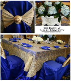 Wedding Inspiration: Royal Blue and Gold