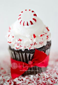 Peppermint Cupcake- very cute and simple decorating