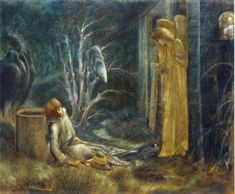 The Dream of Lancelot (Study) - Sir Edward Burne-Jones - The Athenaeum