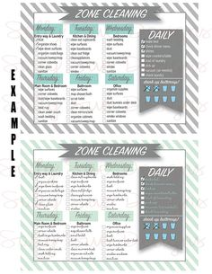 Zone cleaning / / two cards / fly lady / water tracker / drinking card / be the best DU / editable / DIYZone cleaning / / two cards / Fly Lady / Water Tracker / hydration Zone Cleaning, Cleaning Dust, Deep Cleaning Tips, House Cleaning Tips, Cleaning Solutions, Spring Cleaning, Cleaning Hacks, Cleaning Checklist, Diy Hacks