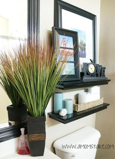 Small Bathroom Ideas- I think I want to recreate something similar for the hallway.