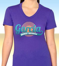 Custom Family Reunion t-shirts from Reunions magazine! Celebrate your family reunion in style! Iron On Fabric, Social Media Outlets, Family Reunions, Professional Logo, Custom Logo Design, Brand You, Shirt Ideas, Silhouette Cameo, Planners