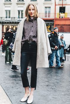 Layer a thin turtleneck under an oversize button-down.