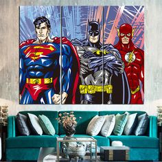 American Hero Oil Painting Decoration Pictures Canvas Art Posters and Prints Canvas Pictures for Living Room 3 Pieces No Frame