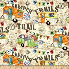 Eco-Friendly, Reusable UnPaper Towels Set of 12 American Retro, Travel Trailer Decor, Camping Fabric, Vintage Trailers, Vintage Ads, Cotton Quilts, Cotton Fabric, Retro Cars, Green Building