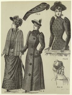 "Image result for Women's outerwear in year ""1890"""
