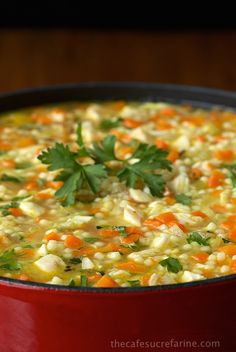 This Turkey Pasta Soup is super delicious, and great way to use up leftover turkey or chicken. Wee ones and grownups love this soup.