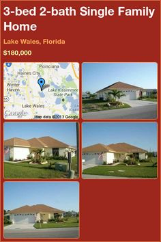 3-bed 2-bath Single Family Home in Lake Wales, Florida ►$180,000 #PropertyForSale #RealEstate #Florida http://florida-magic.com/properties/8224-single-family-home-for-sale-in-lake-wales-florida-with-3-bedroom-2-bathroom