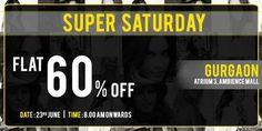 Super Saturday sale - 23 June 2012, Flat 60% off at Vero Moda, Ambience Mall, Gurgaon | Events | Delhi-NCR | MallsMarket