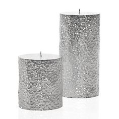 Z Gallerie - Pebble Candles - Silver