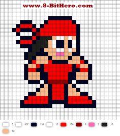 Elektra Updated Perler Bead Pattern
