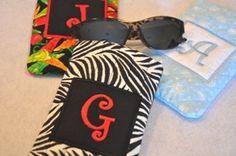 5x7 Quilted Monogram Sunglasses Case - FSF