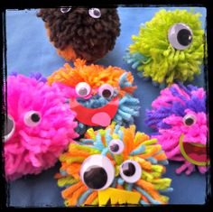 DIY Pom Pom Monsters