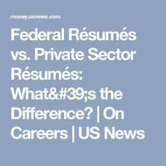 Federal Resume Guide  Federal Meredith College And Newspaper