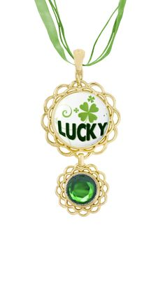Lucky Double bloom Necklace. Available at www.betsysbling.magnabilities.com