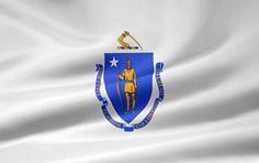 Picture of the Massachusetts state flag.